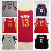 Wholesale For James Harden Jersey New Material Rev30 Harden Throwback Embroidery Logos stitched Sport jerseys Tops Cheap Tops