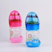 Wholesale ml BPA free No odor Baby feeding bottle infant milk bottle Newborn nursing bottle With Rattles