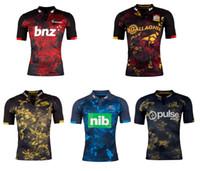 al por mayor nueva llegada de la venta caliente-2017 new arrival rugby jerseys new Zealand Crusaders Blues Chiefs Highlanders Hurricanes de alta calidad de las ventas de rugby camisas