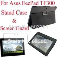 asus transformer black screen - For Asus Transformer TF300 stand case and screen guard TF300 cover case screen protector OPP bag packing