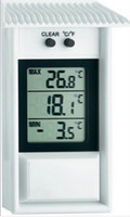 Wholesale LCD Digital waterproof outdoor thermometer high low memory garden thermometer window thermometer