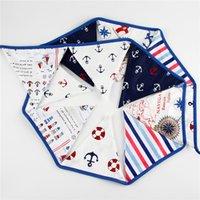 Vente en gros-12 drapeaux 3.2m Pirate thème tissu de coton Bunting drapeaux fanion Banner Garland mariage / anniversaire / baby shower Party Decoration