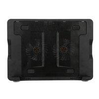 Wholesale Notebook Cooler Have Big LED Light Fan USB Laptop Cooler Upgrated Version Cooler Laptop Cooling Pad