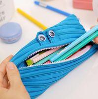 Wholesale Piece New Cute Cartoon Kawaii Eye Candy Color Portable Pen Pencil Bag Makeup Cosmetic School Stationary Pocket Case cm