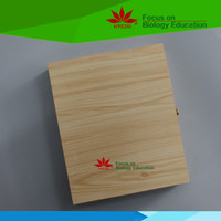 beautiful box art - Beautiful capacity microscope slides wooden box