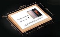 Wholesale A5 Wooden acrylic desktop label function description poster price tag POP tag card holder frame tabletop