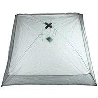 Wholesale Size x cm Foldable Crab Fish Crawdad Shrimp Minnow Fishing accessories Bait Trap Cast Net Cage Nylon