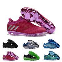al por mayor molienda pura-2017 Adidas Originals Hombre X 16+ PureChaos FG AG Barato Pura Chaos Control Zapatos de Fútbol Tierra Mejores Botas Messi PureAgility Soccer Cierres