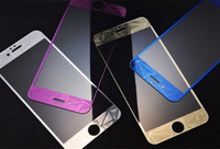 Wholesale 9H Tempered Glass Film Screen Protector D Diamond Relief Pattern Color membrane For iPhone7 plus s iphone s SE apple Front and Back