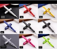 Wholesale LAMY safari High Quality Business office financial Fountain Pen F red converter set with gift box
