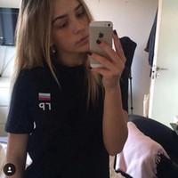 Wholesale T Shirt Women Gosha Rubchinskiy Russian Flag Fashion Tumblr Street Wear Hipster Instagram Casual Printed Tee Tops Short Sleeves Clothing