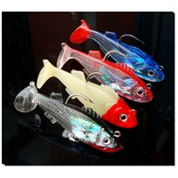 Wholesale 6cm g Fish Type Soft Fishing Lure D Eyes Soft Lure Soft Bait Sea Fishing Lure Free