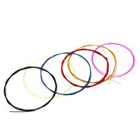 Wholesale Colorful Alice A107C Six Guitar Strings Set Nylon Core Coated Copper Alloy Wound Guitar Parts Accessories