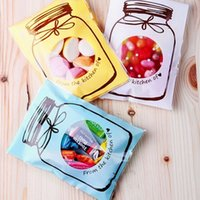 anti recycling - Set Plastic Transparent Cellophane Candy Cookie Gift Bag Self Adhesive Pouch Wedding Birthday Party