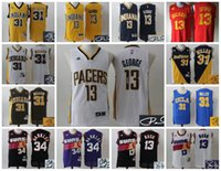 basketball barkley - AA Basketball Indiana Phoenix Signature Signed Jersey Paul George Reggie Miller Charles Barkley Steve Nash Pacers Suns Throwback