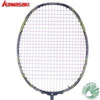 Wholesale 2017 Genuine Kawasaki Nezer II Badminton Rackets Super Slim Frame and mm Shaft Graphite Fiber Raquette Badminton