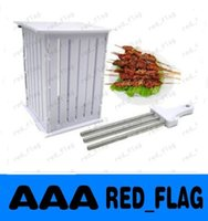 Wholesale rapid wear meat machine manual meat grinder metal skewers barbecue accessories bbq tool grill series LLFA