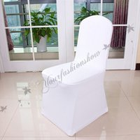 Wholesale Fedex DHL Free chair cover White color customize banquet chair cover for wedding Decorations and universal chair covers Z362