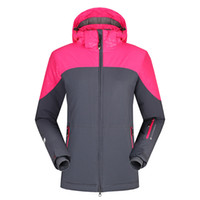 Wholesale Ski Jacket Women Climbing Skiing Snowboard Coat Warm Windproof Clothing Waterproof Hoodie Sportwear MD0257