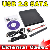 Wholesale Newest Store Portable Slim USB DVD CD DVD Rom SATA External Case for Laptop Notebook Computer
