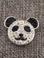 Clasps & Hooks Alloy Chirstmas Wholesale panda snap button jewelry metal snap for bracelet necklace (18mm 20mm snap buttons)