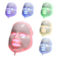 Wholesale 7 colors PDT led photon facial mask blue green red light therapy Skin Rejuvenation Anti aging Wrinkle Removal beauty device