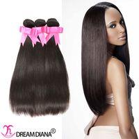 Wholesale Human Hair Extensions Brazilian Virgin Hair Straight Bundles Cheap Human Hair Weave Remy
