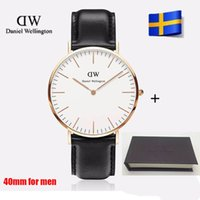 alloy watch box - 2017 top luxury Brand Daniel Wellington color mm mm DW Watch Women and men Leather strap sports Quartz watch Relojes with gift box