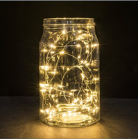 Wholesale 30 Leds Copper Wire Warm White Lights ft M String Lights For Christmas Light Festival Wedding Party Or Home Decoration