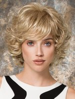 Cheap Layered Chin Length Curly Synthetic Wig Non-slip Grip 2016 Lastest Fashion Cheap Wigs