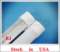 Wholesale Stock in US Los Angeles LED tube T8 LED fluorescent tube SMD2835 led mm W AC V V input CE ROHS aluminum PC CW WW