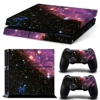 Cheap Night Sky Protective Skin Cover Sticker for Sony PS4 Console And 2 Controllers