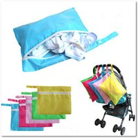 Wholesale Solid Baby Out Clothes Baby Diaper Bags Feeding Bottles Nappy Changing Bibs Hang Stroller Storage Bag