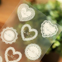 Wholesale 20 Sheets Plastic Lace Printing Biscuit Gift Sticker Cookie Bag Sealing Stickers DIY Lace Creative Sticker Sealing Print Paste