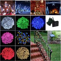 Wholesale M LEDs Solar Waterproof Outdoor Multicolor LED String Lights Christmas Lights Holiday Wedding Party New Year Decoration