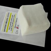 Acheter E japanese-100% pur coton biologique japonais RDA Atomiseur Wicking coton non blanchi Nature coton pour rda rba Atomiseur reconstructible E Cig DHL Free