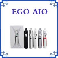 Clone Joyetech EGO Kit Aio 1500mAh Quick Start Vaporisateur Kit All in One Starter Kit 0.6ohm avec LED coloré Livraison gratuite DHL