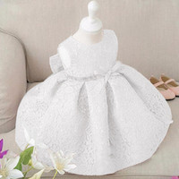 Wholesale Princess Girls Party Dresses for Party Baby Fashion Tutu Dress Girls Princess Baby Girl Wedding Dress Birthday Big Bow Christening
