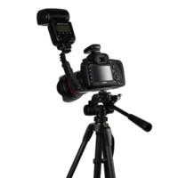 al por mayor l soporte de vídeo-Universal Camera Grip L Bracket con 2 Lado Caliente Estándar Montaje Caliente Video Luz Flash DSLR Holder Videocámara Accesorios Foto