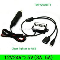 Wholesale 12V24V step down V cigar lighter converter to double dual USB A on board power supply module non isolated buck