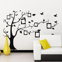 big multi photo frames - 50 cm Big Tree with Photo Frame Wall Stickers DIY Art Decal Removeable Wallpaper Mural Sticker for Bedroom Living Room LM7031