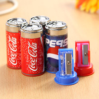 Wholesale Creative stationery cute mini coke pencil sharpener student supplies temperamatite scuola good student rewards pencil sharpener