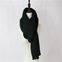 Wholesale 2016 women men Couple winter green knitting scarf wool cashmere fashion luxury brand Birthday Christmas present