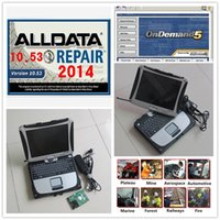 Wholesale Installed well Alldata with Toughbook CF19 Laptop Alldata and mitchell on demand Auto Repair Software in TB HDD
