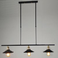 Wholesale New Designed Creative Bar Island Pendant Lights Light Drop Island Home Pub Chandelier Retro Metal Shade Christmas Decoration