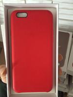 achat en gros de pu case-Copie officielle 1: 1 pour Apple IPhone 7 Plus Cas Original Haute Qualité Slim Housse en cuir PU avec LOGO Emballage au détail