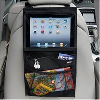 Wholesale Automobile Back Car Seat Organizer Holder Multi Pocket Travel Storage Hanging Bag Diaper Bag Baby Kids Car Seat Ipad Bag