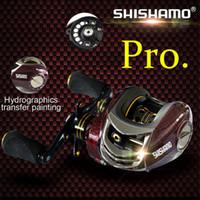 Wholesale Shishamo BC150 Ball Bearings Baitcasting Reels Right Left Hand Metal Fishing Bait Casting Reel with One Way Clutch B