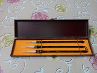 Wholesale 3chinese brushes in one case handwriting national culture