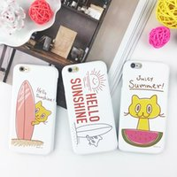 apple sunshine - Cute Cartoon Cell Phone Cases for iphone s Juicy Summer Hello Sunshine Mobile Phone Covers